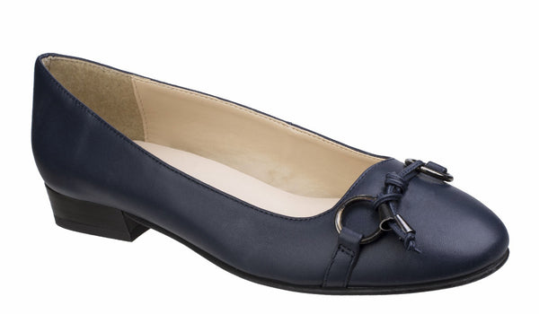 Riva Lucia Womens Leather Slip On Ballerina Pump Navy