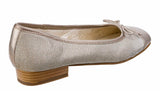 Riva Lucido Womens Leather And Fabric Slip On Ballerina