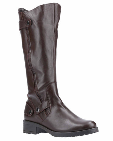 Riva Moon Womens Leather Long Boots
