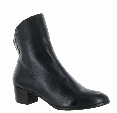 Riva New Buttons Womens Leather Dress Ankle Boot