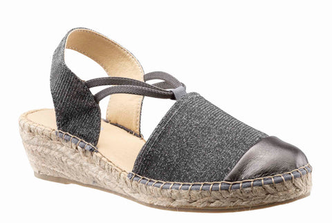 Riva Pearl Womens Toe Cap Detail Slip On Espadrille Sandal