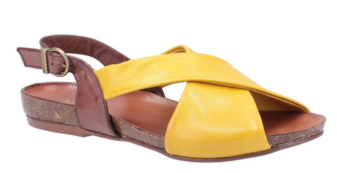 Riva Pontiella Womens Leather Flat Slingback Summer Sandal