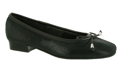 Riva Provence Womens Ballerina With Bow Trim Black Fish