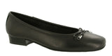Riva Provence Womens Ballerina With Bow Trim Black L