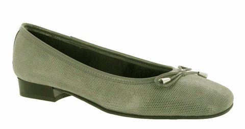 Riva Provence Womens Ballerina With Bow Trim Grey Fish