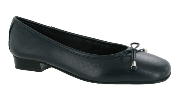 Riva Provence Womens Ballerina With Bow Trim Navy L