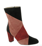 Riva Rosabella Womens Multicoloured Suede Calf Length Dress Boot Blk/Praline/Red