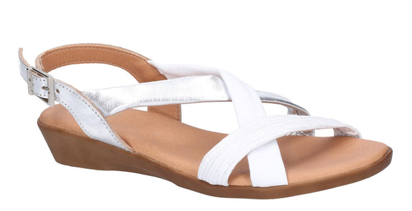 Riva San Nicola Womens Metallic Leather Slingback Summer Sandal