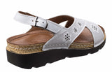 Riva Serafina Womens Slingback Wedge Heeled Casual Sandal