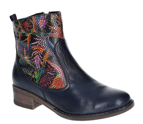 Riva Sesia Womens Multicoloured Chelsea Style Ankle Boot