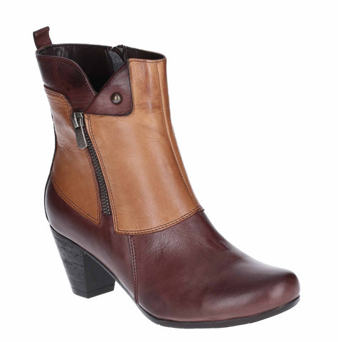 Riva Tirso Womens Two Tone Leather Dress Ankle Boot