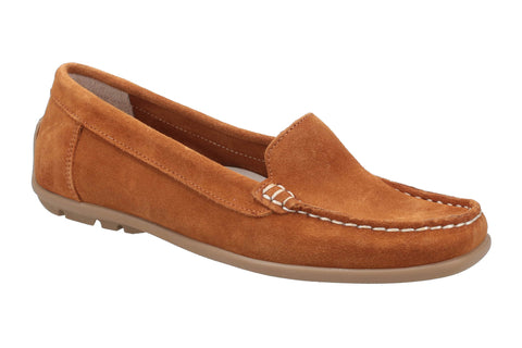 Riva Torella Womens Suede Leather Slip On Casual Moccasin