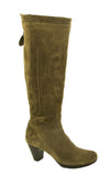 Riva Toucan Womens Long Leg Suede Leather Dress Boot Taupe S
