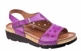 Riva Trista Womens Touch Fastening Wedge Heeled Sandal Purple
