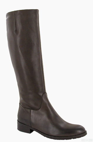 Riva Vicenza Womens Classic Long Leg Leather Dress Boot Brown