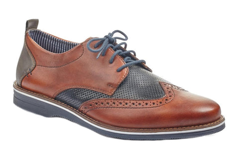 Rieker 12532 Mens Wide Fit Lace Up Shoe