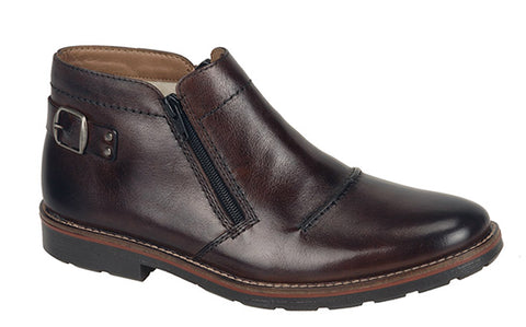 Rieker 35362 Mens Twin Zip Pull On Casual Boot 25 Havanna