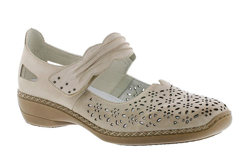 4078a8409444c Rieker 413G7 Womens Touch Fastening Mary Jane Casual Shoe
