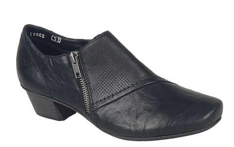 Rieker 53851 Womens Slip On Trouser Shoe 00 Black/Rep