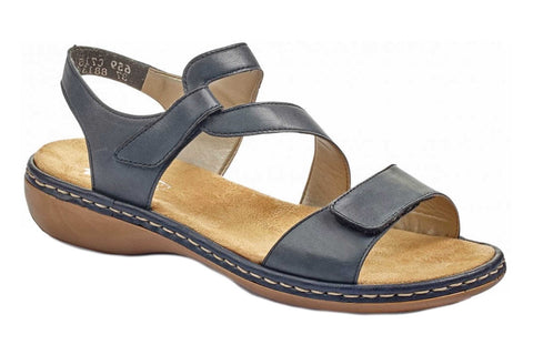 Rieker 659C7 Womens Leather Touch Fastening Sandal