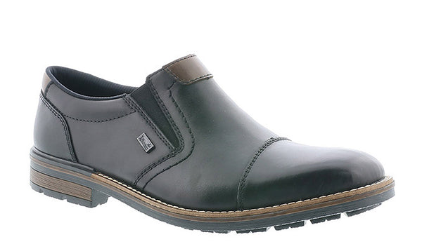 Rieker B1359 Mens Wide FIt Plain Toe SlipOn Shoe