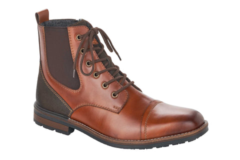 Rieker F1324-24 Mens Lace Up Ankle Boot