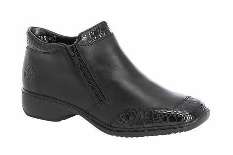 Rieker L3862-45 Womens Twin Zip Casual Ankle Boot