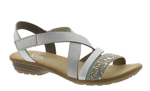 Rieker V3463 Womens Touch Fastening Summer Sandal 42 Grey Multi