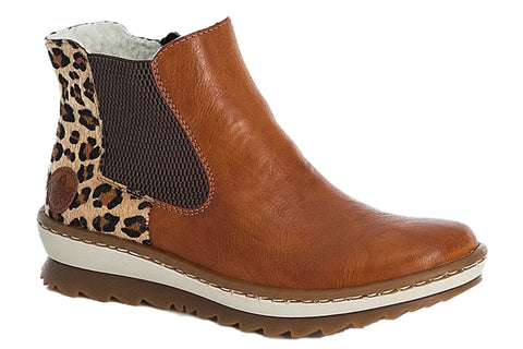 Rieker Z8689-24 Womens Warm Lined Chelsea Boot