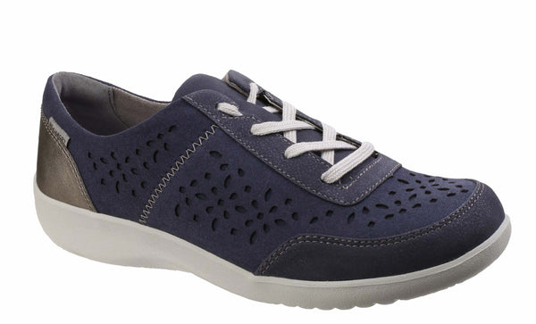 Rockport Emalyn Tie BX1996 Womens Lace Up Casual Shoe Nvy BX1996