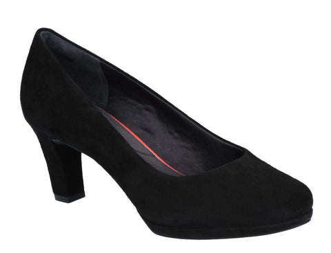 Rockport Total Motion Leah Heeled Shoe Black Suede
