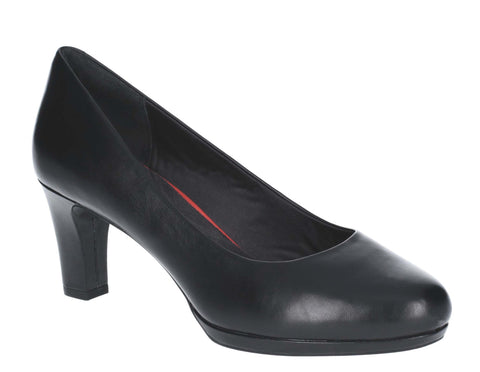 Rockport Total Motion Leah Heeled Shoe Black