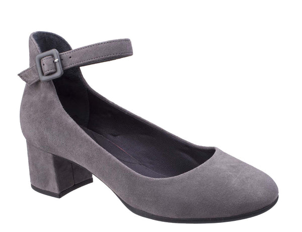 Rockport Total Motion Novalie Ankle Strap CG7878 Womens Dress Shoe Grey S CG7878