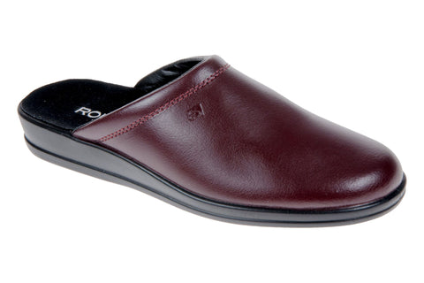 Rohde 1550 Mens Leather Mule Slipper 48 Wine
