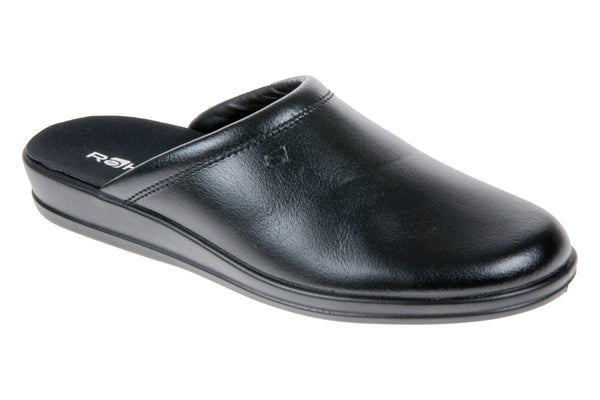 Rohde 1550 Mens Leather Mule Slipper 90 Black