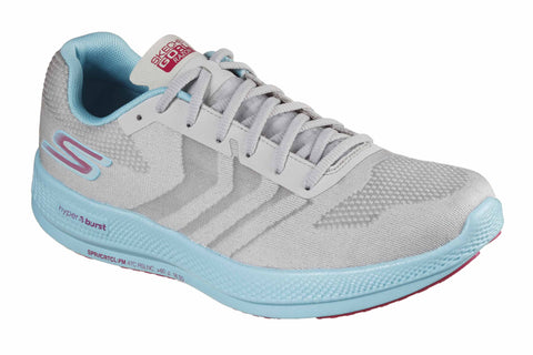 Skechers Go Run Razor + Sports Shoes Grey/Aqua/Pink