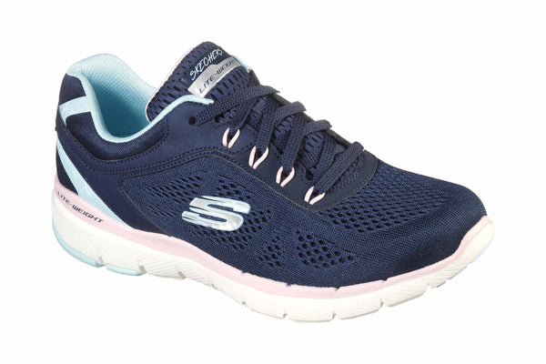 Skechers 13474 Flex Appeal 3.0 Steady Womens Lace Up Trainer