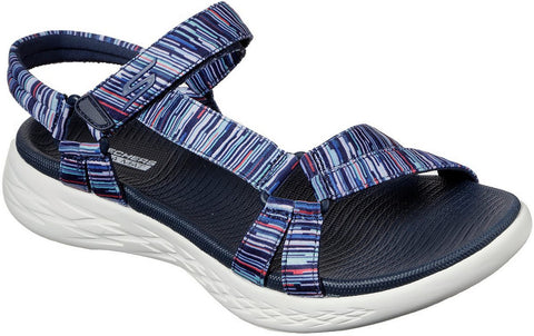 Skechers On The Go 600 Electric Velcro Sandal Navy