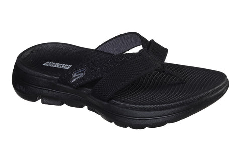 Skechers Gowalk 5 Sun Kiss Slip On Toe Post Black