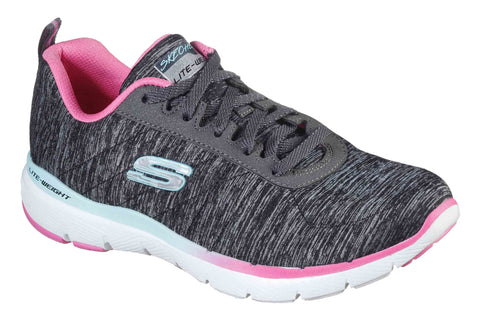 Skechers 149008 Flex Appeal 3.0 Fan Craze Lace Up Trainers