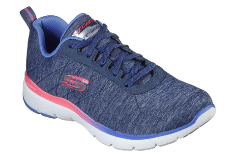 Skechers 149008 Flex Appeal 3.0 Fan Craze Womens Trainers