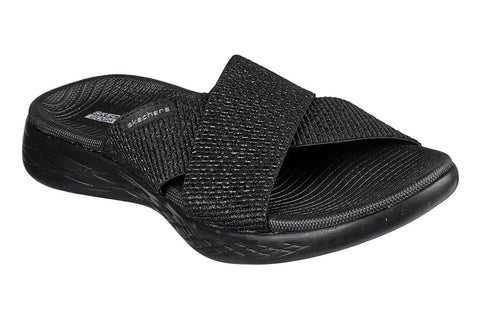 Skechers On the GO 600 Glistening Sandal Black