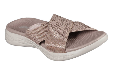 Skechers On the GO 600 Glistening Sandal Gold