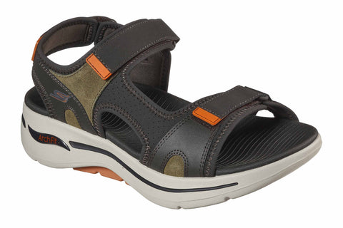 Skechers Go Walk Arch Fit Sandal Mission Summer Sandal Olive/Orange