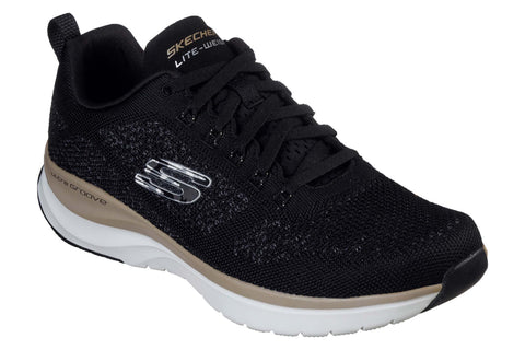 Skechers Ultra Groove Royal Dragoon Mens Sports Trainer Black