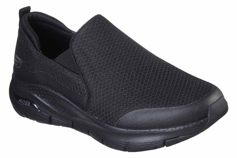 Skechers Arch Fit Banlin Slip On Sports Black