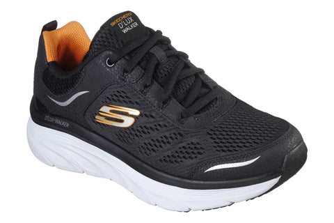 Skechers DLux Walker Lace Up Sports Black/White