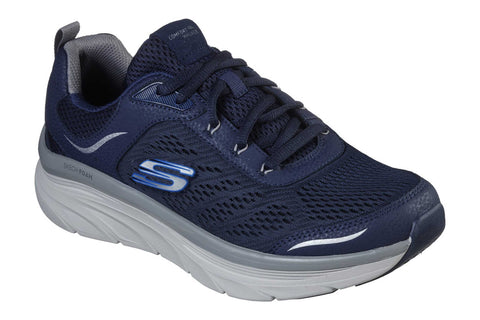 Skechers DLux Walker Lace Up Sports Navy/Grey