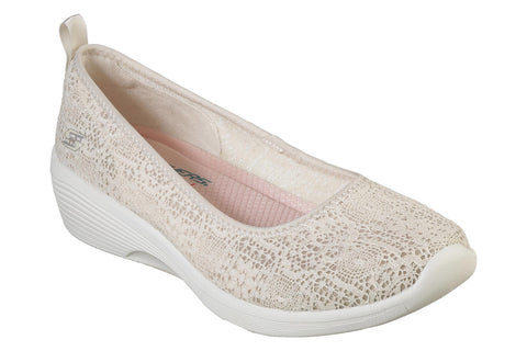 Skechers Arya Airy Days Slip On Shoe Natural