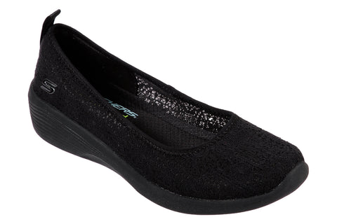 Skechers Arya Airy Days Slip On Shoe Black